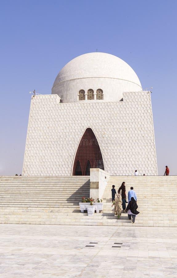 真纳陵墓在卡拉奇,巴基斯坦 免版税库存照片