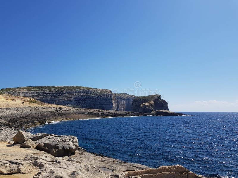 真菌岩石在戈佐岛,马耳他 库存图片