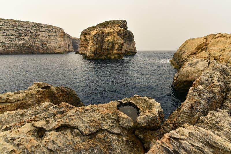 真菌岩石戈佐岛海岛马耳他 免版税库存图片