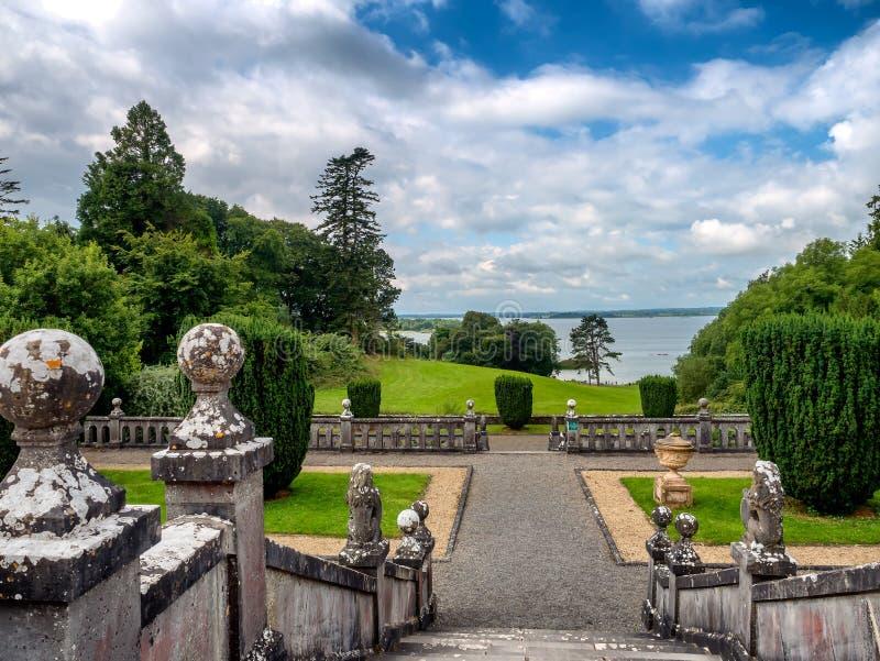 眺望楼房子外部,爱尔兰 库存图片