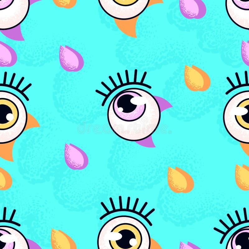 眼珠样式 背景计算机方式模仿屏幕 库存例证