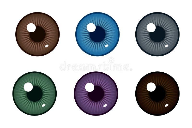 眼珠的人的学生 眼睛的颜色 也corel凹道例证向量 库存例证