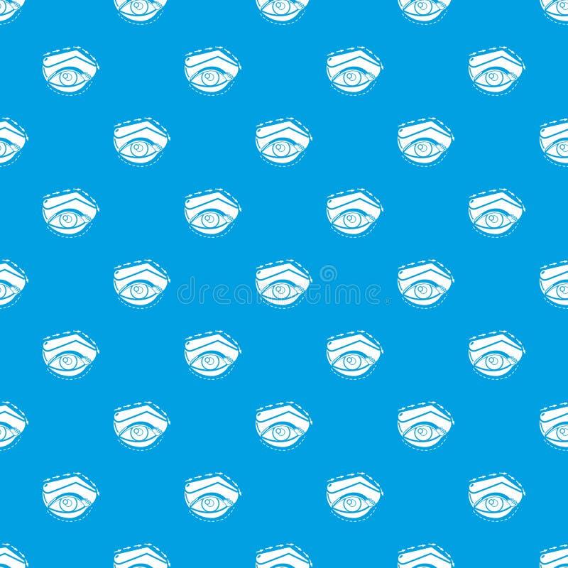 眼皮海拔样式传染媒介无缝的蓝色 向量例证
