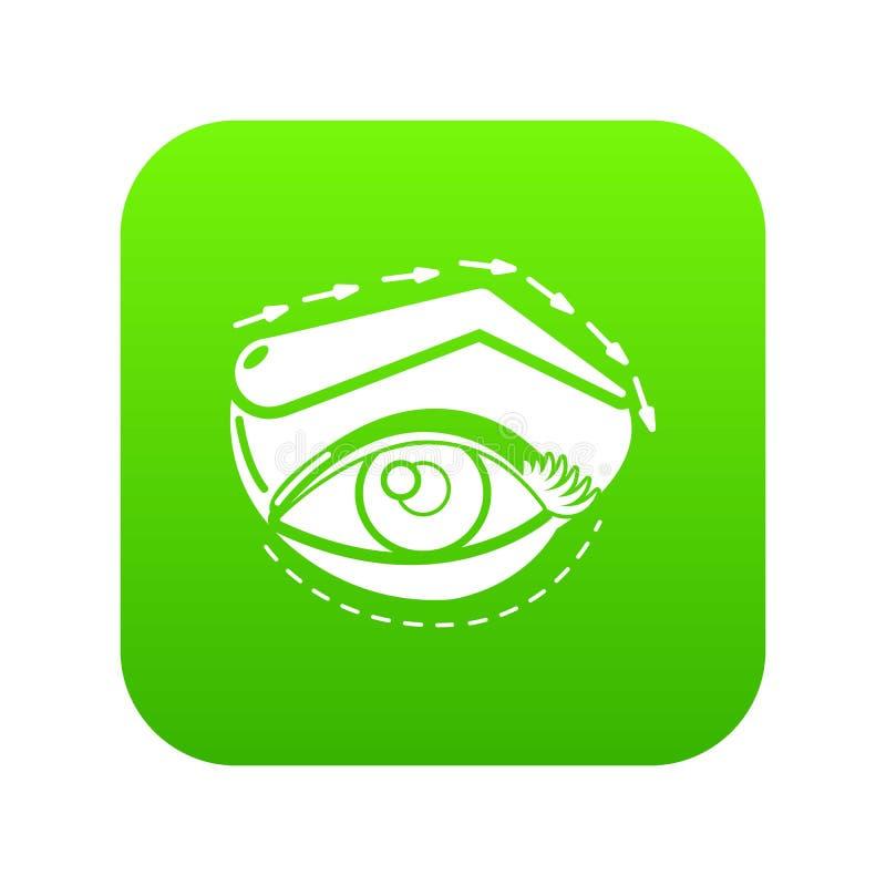 眼皮海拔象绿色 向量例证