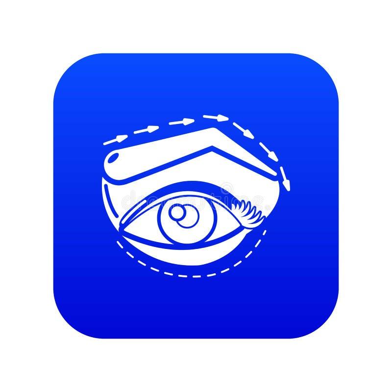 眼皮海拔象蓝色传染媒介 库存例证