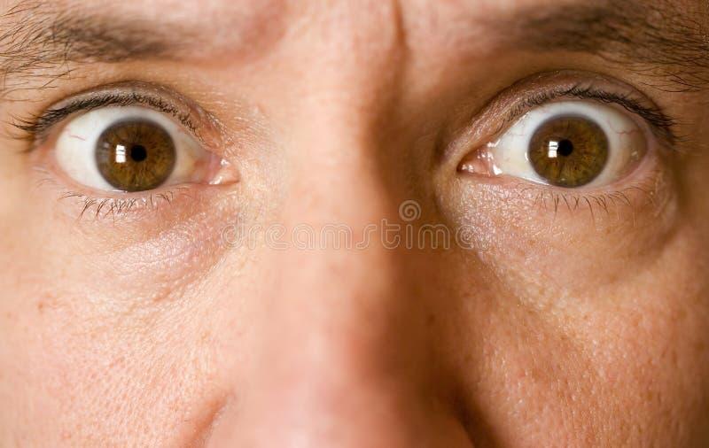 眼睛人照片股票惊奇了 免版税图库摄影