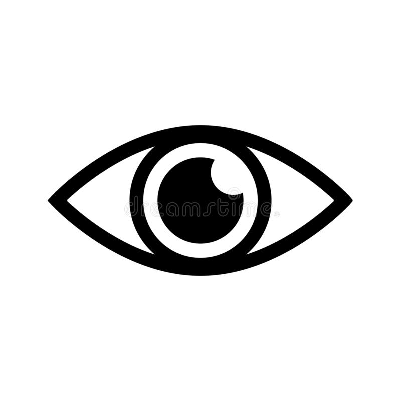 眼睛传染媒介象 眼睛例证商标 皇族释放例证