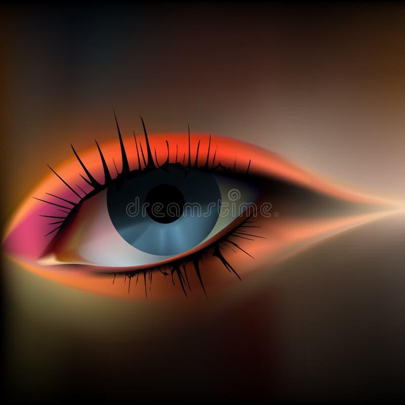 眼睛例证向量 库存例证