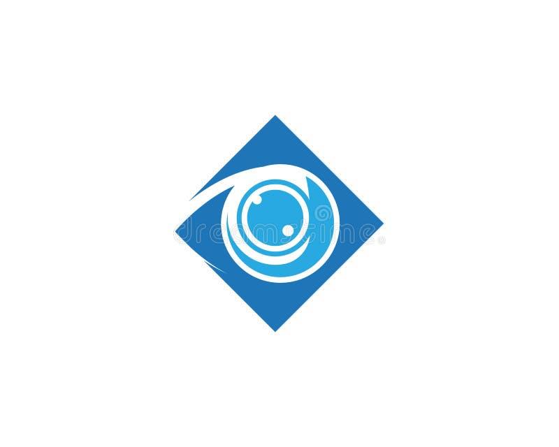 眼睛关心传染媒介商标设计 皇族释放例证