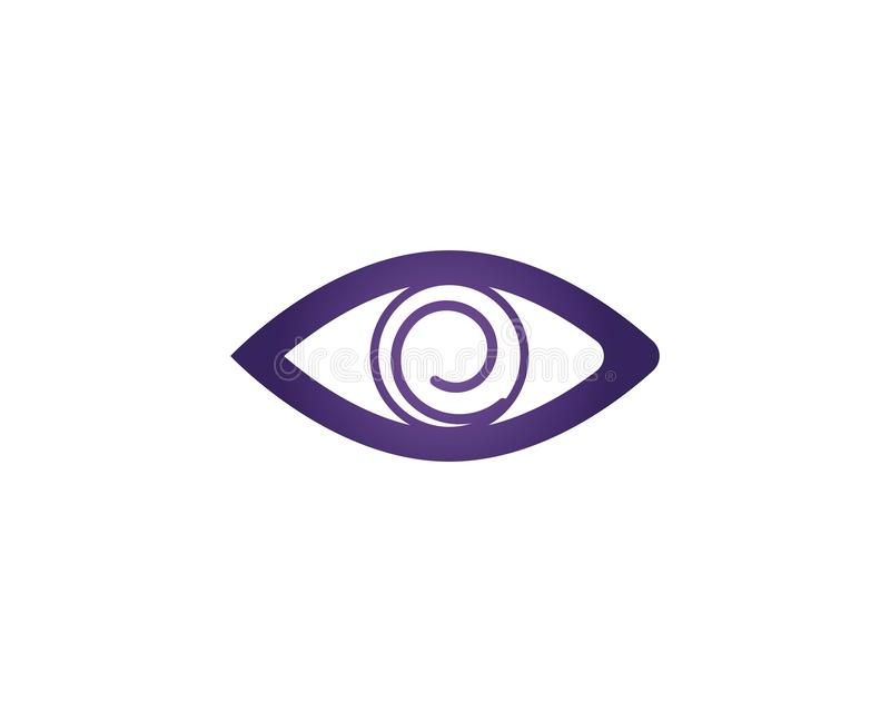 眼睛关心传染媒介商标设计 库存例证
