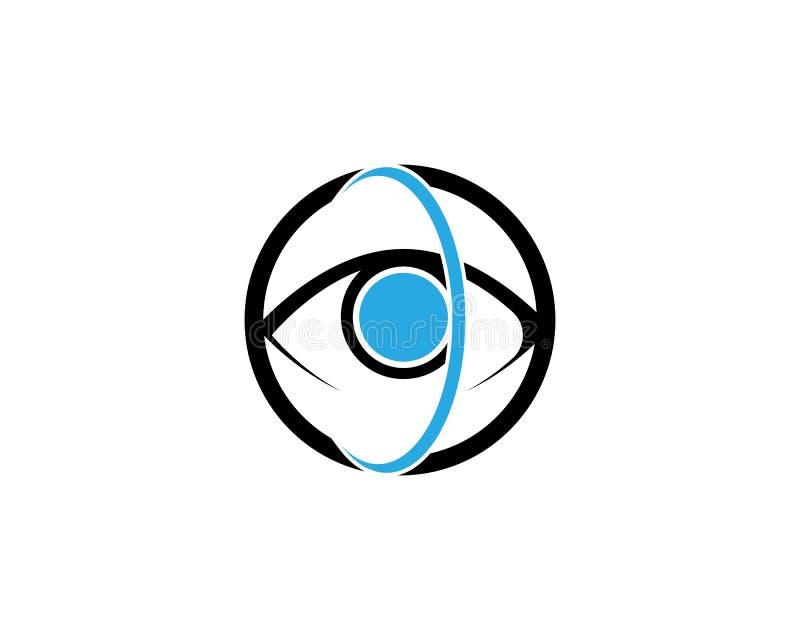 眼睛关心传染媒介商标设计 向量例证