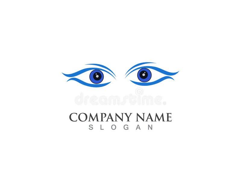 眼睛关心商标标志模板传染媒介象应用程序 皇族释放例证