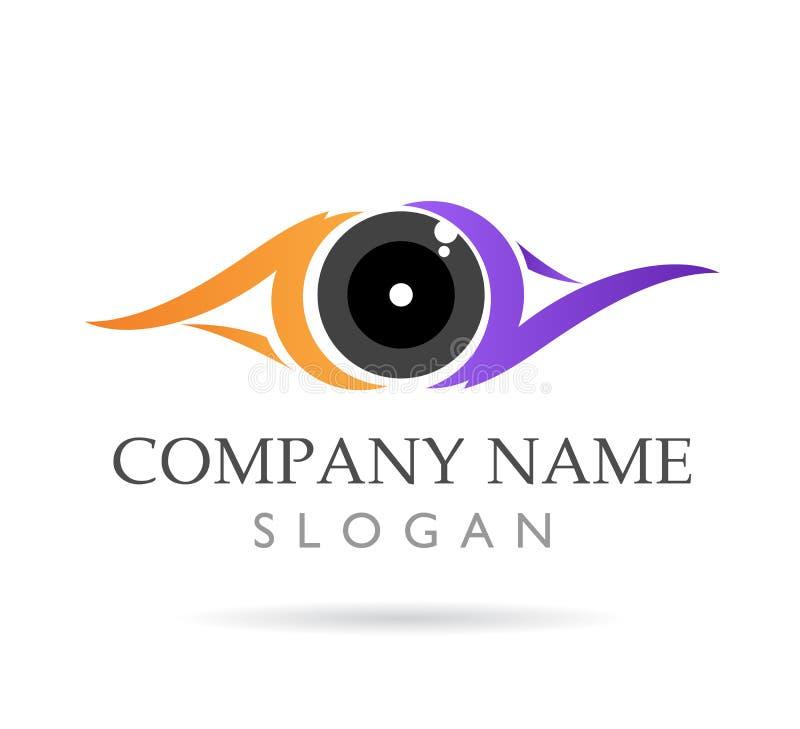 眼睛关心,诊所,五颜六色,新的商标传染媒介象 库存例证