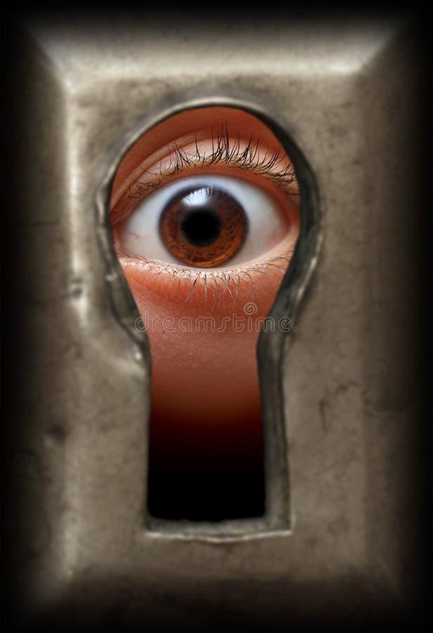 眼睛匙孔 库存图片