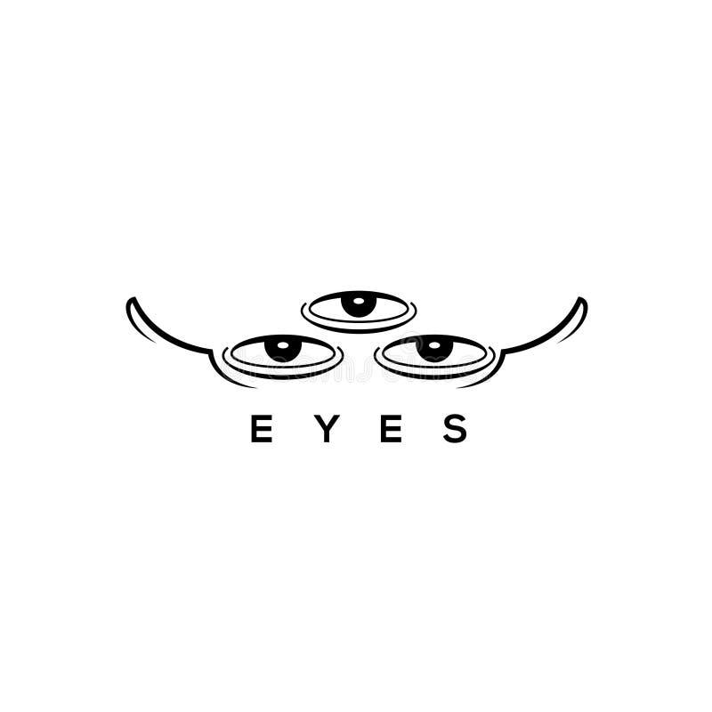 眼睛和眼睛玻璃传染媒介商标 皇族释放例证
