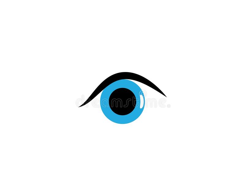 眼睛商标模板 皇族释放例证