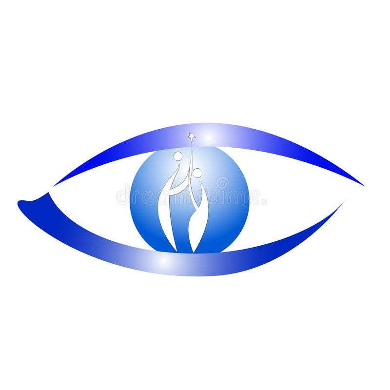 眼睛商标 向量例证