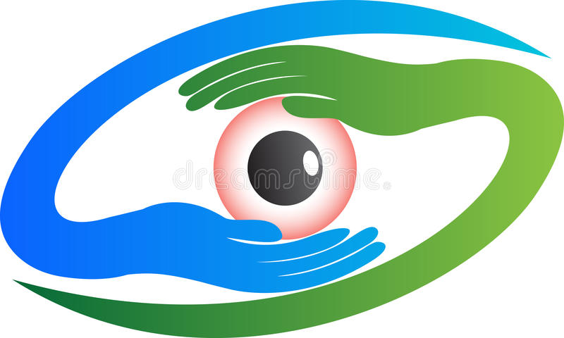 眼睛商标 库存例证