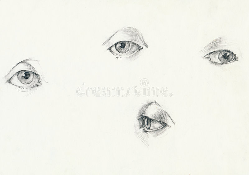 眼睛四 向量例证