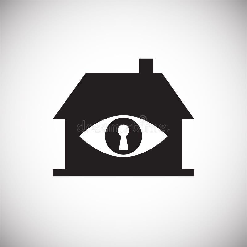 眼睛在白色背景的公认安全图表和网络设计的,现代简单的传染媒介标志 背景蓝色颜色概念互联网 时髦 向量例证