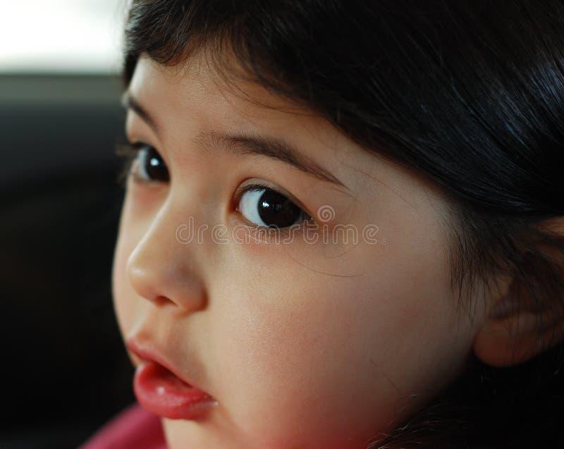 眼睛女孩 库存图片