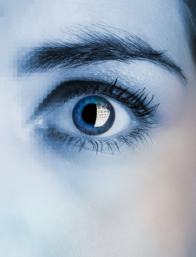 眼睛女性 免版税图库摄影