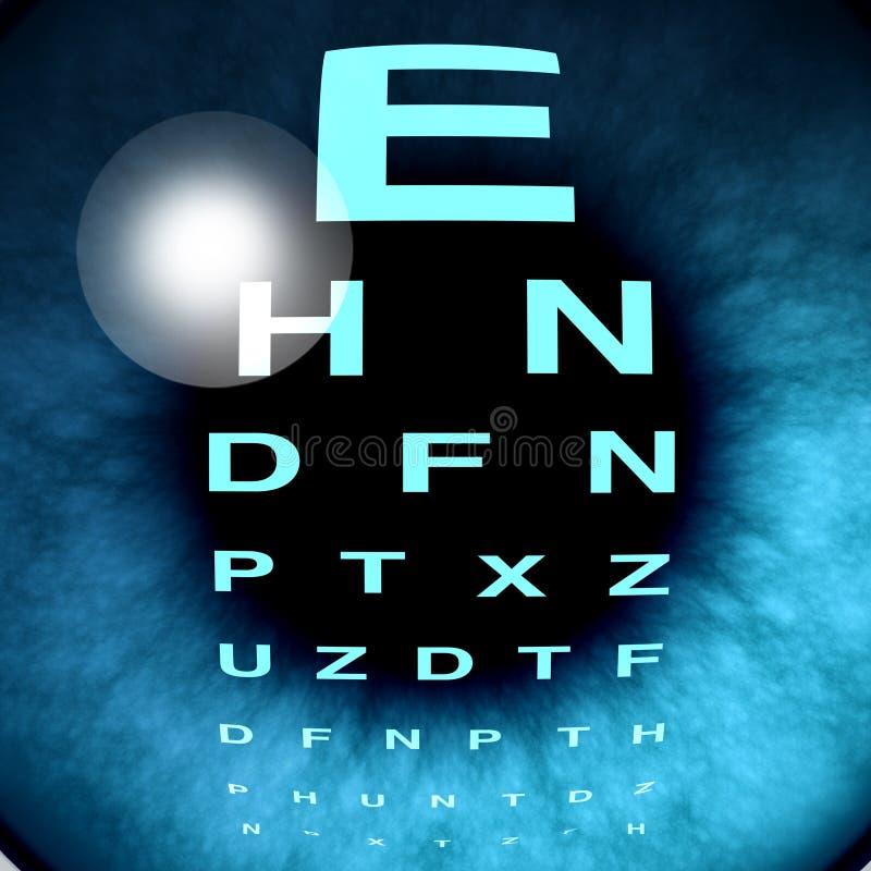 眼睛宏指令远见 库存例证