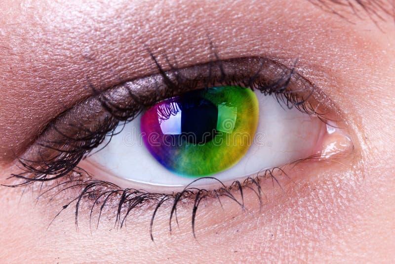 眼睛彩虹 免版税库存图片