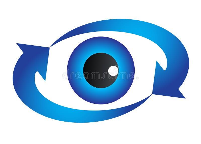 眼睛徽标 向量例证