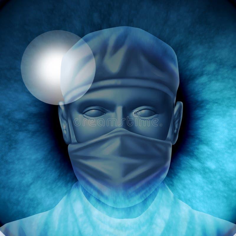 眼睛手术 库存例证