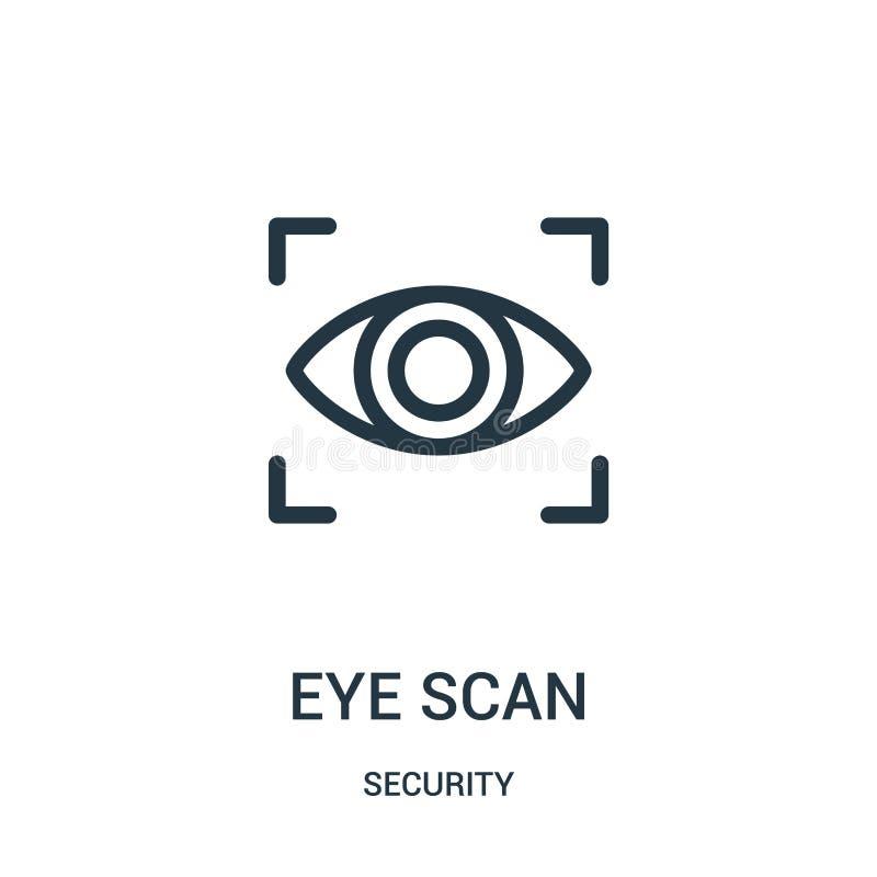 眼睛扫描从安全汇集的象传染媒介 稀薄的线眼睛扫描概述象传染媒介例证 皇族释放例证