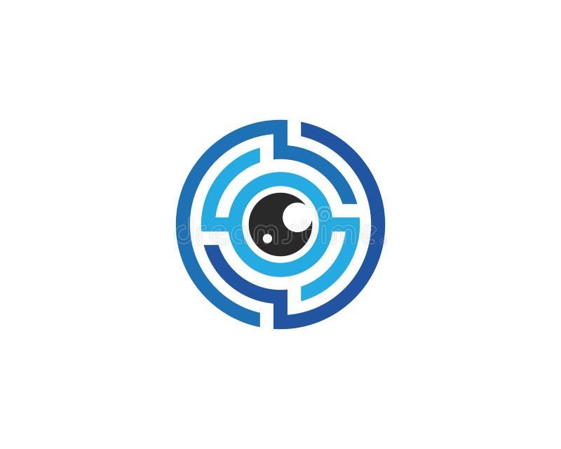 眼睛技术商标传染媒介 向量例证