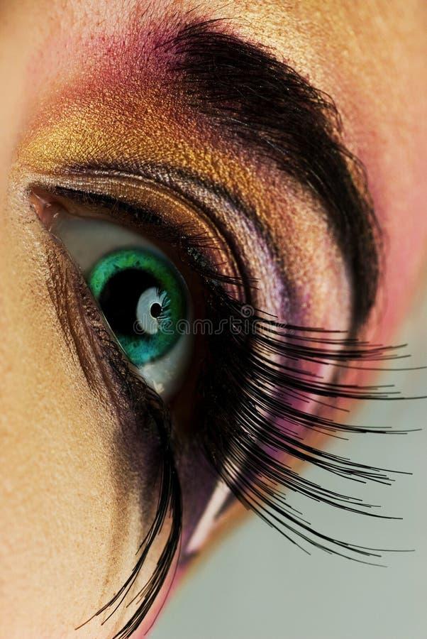 眼睛油漆 免版税库存图片