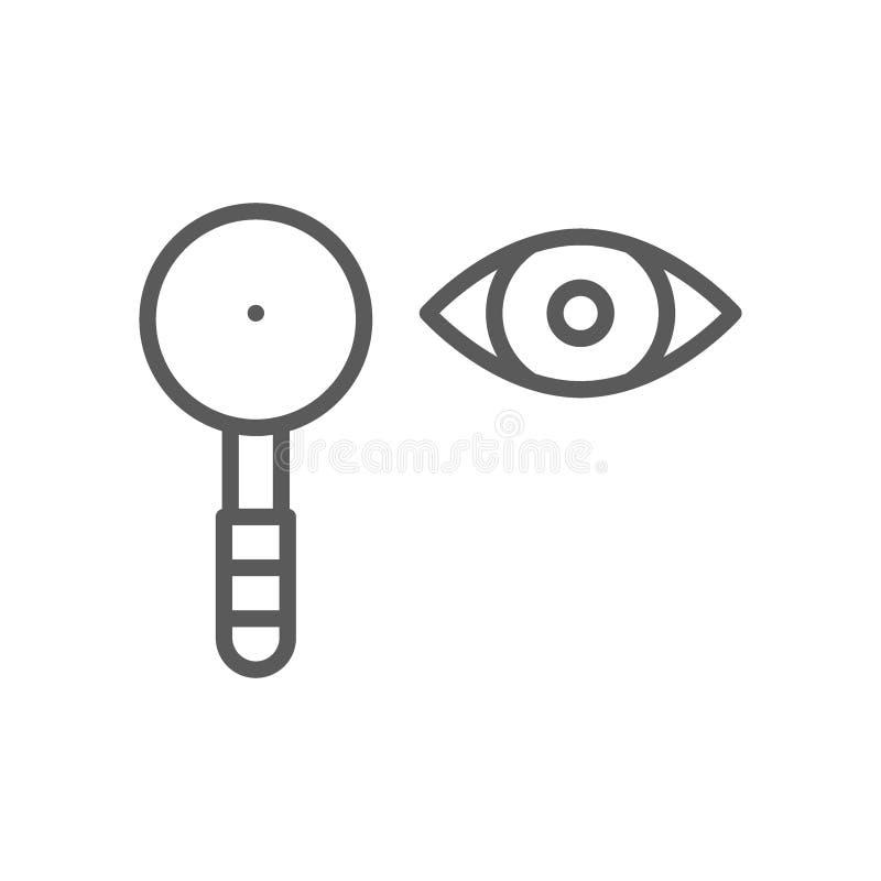 眼睛测试,肩胛骨线象 皇族释放例证