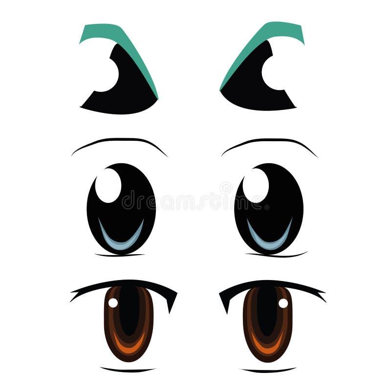 眼睛的三种类型 皇族释放例证