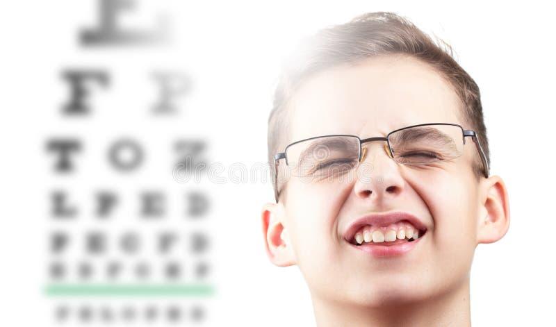 眼睛眼力眼科学测试和视觉健康,医学医生 免版税图库摄影