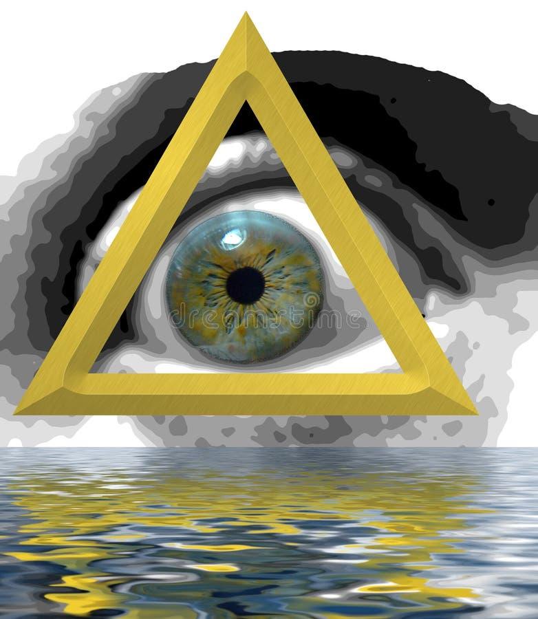 眼睛神秘主义者 免版税库存图片