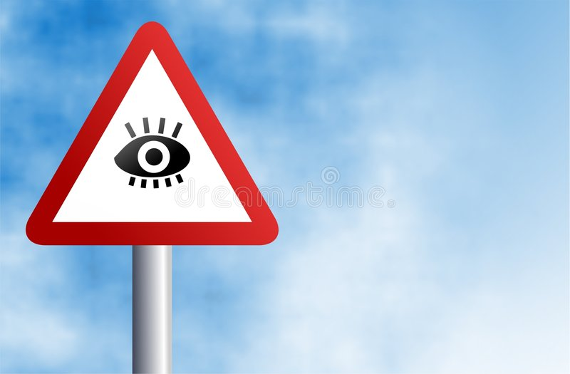 眼睛符号 皇族释放例证