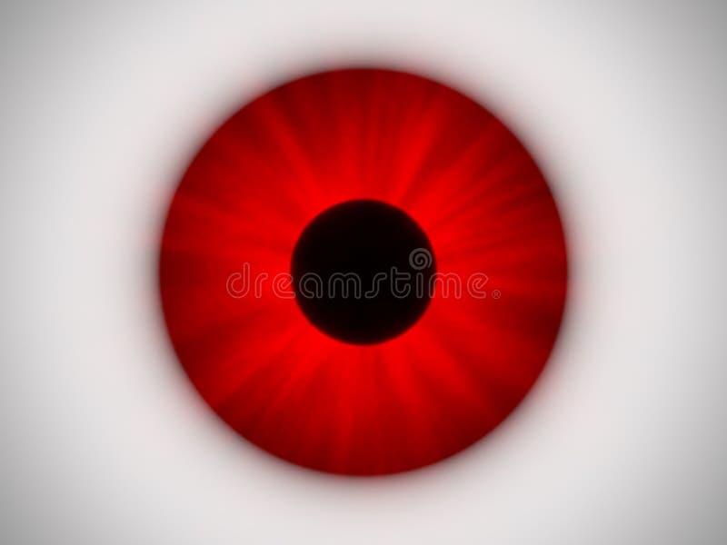 眼睛红色 库存例证