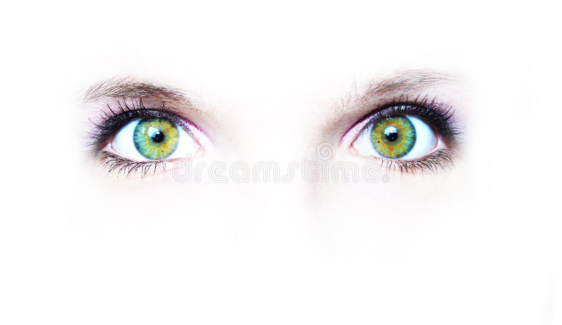 眼睛绿化二 免版税库存图片