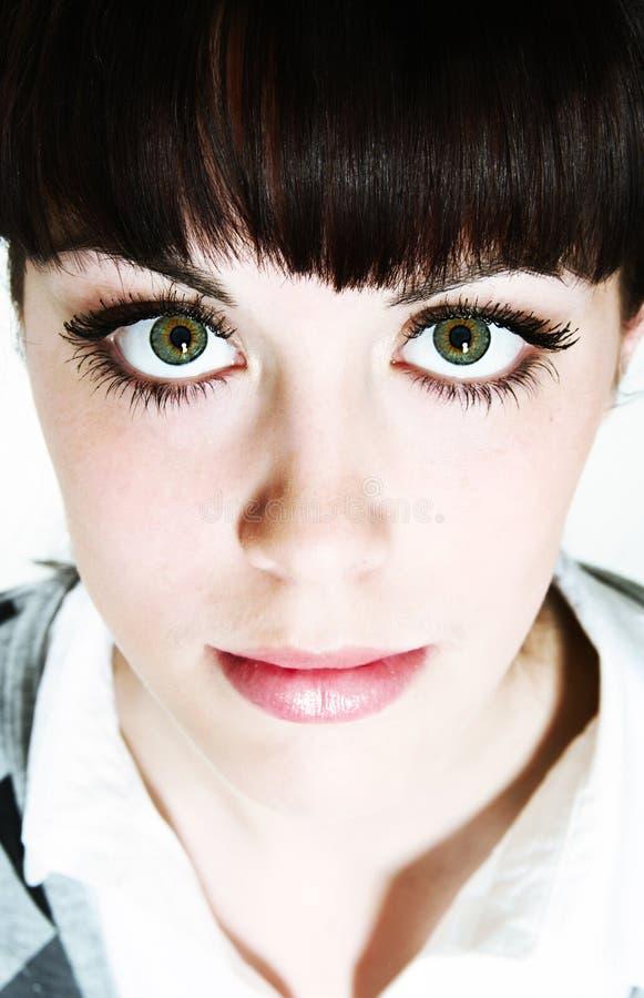 眼睛绿色凝视 库存照片