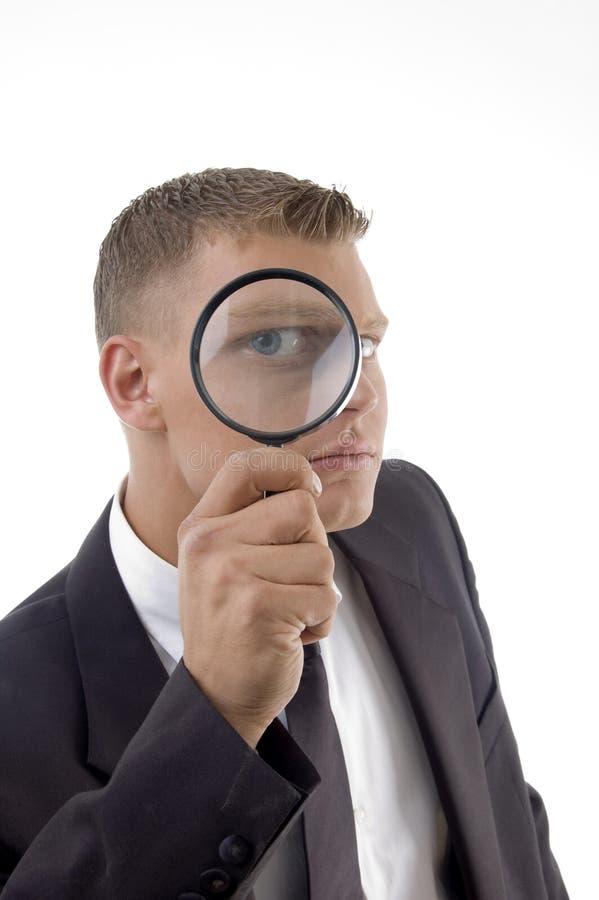眼睛英俊的被扩大化的提供者服务 免版税图库摄影