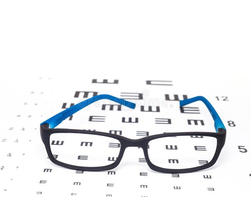 眼睛视域测试图 免版税库存图片