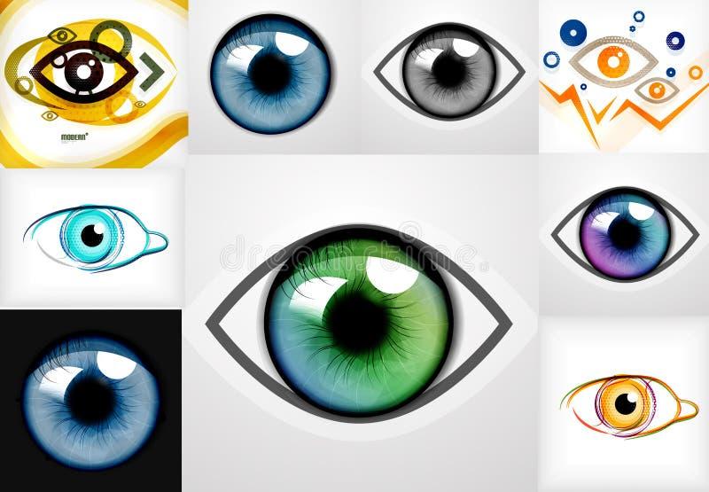 眼睛设计模板的兆收藏 库存例证