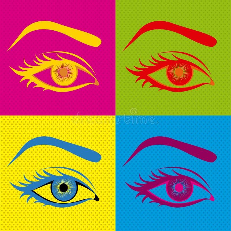 眼睛设计 库存例证