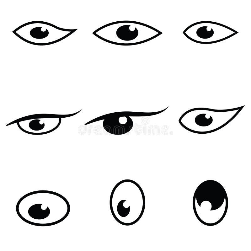 眼睛象集合 库存例证