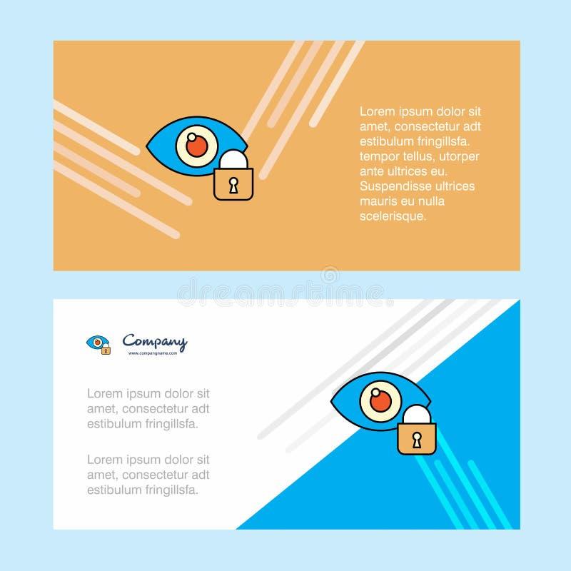 眼睛锁了抽象公司业务横幅模板,水平的广告业横幅 向量例证