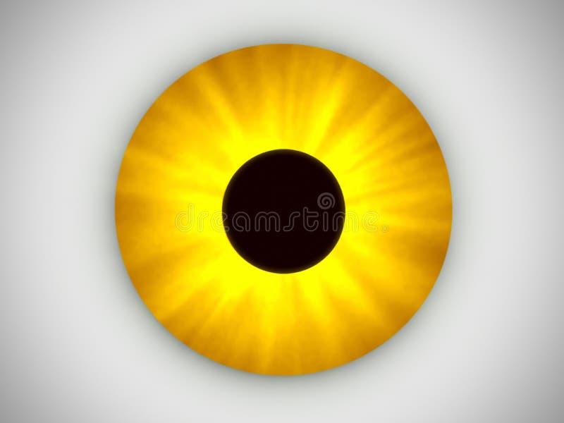 眼睛黄色 库存例证