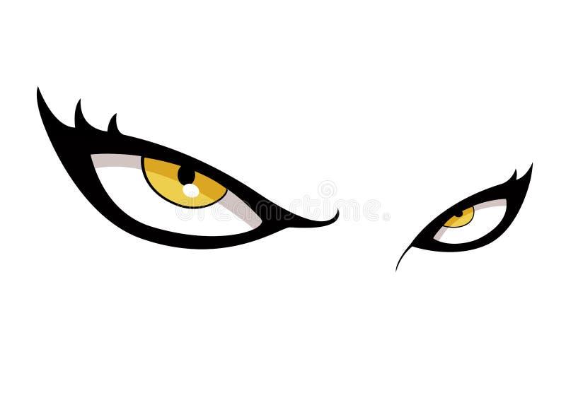 眼睛黄色 向量例证