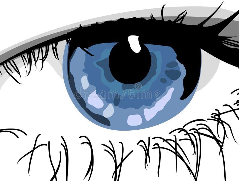 眼睛 库存例证